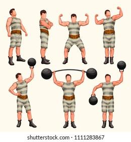 strong man set 2