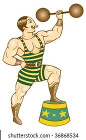 strong man vintage