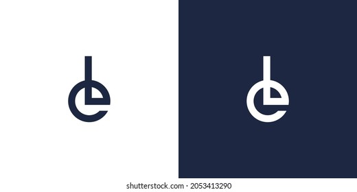 strong and modern letter LE initials logo design