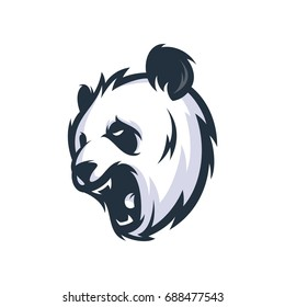 Strong Panda - Vector Logo/Icon Mascot Illustration