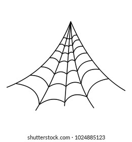 Strong spiderweb icon. Outline illustration of strong spiderweb vector icon for web