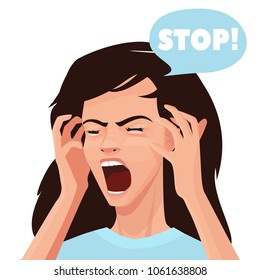 Shouting Face Images, Stock Photos & Vectors | Shutterstock