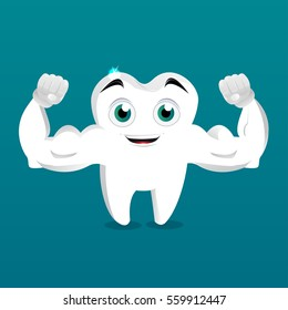 Strong tooth mascot