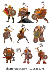 strong viking warrior with axe