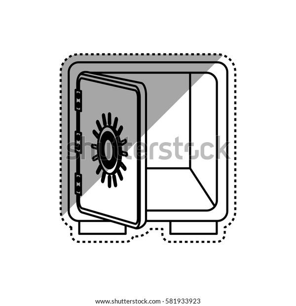 Strongbox safe money icon vector illustration graphic design
