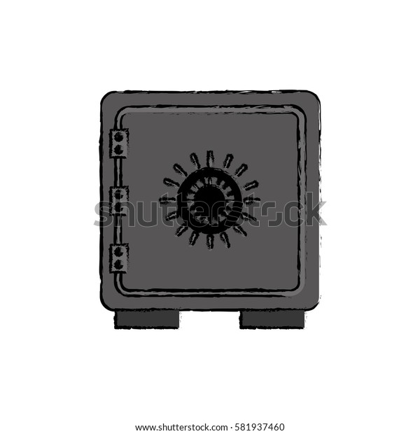 Strongbox safety symbol icon vector illustration graphic design