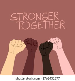 stronger together campaign. unity and equality of people