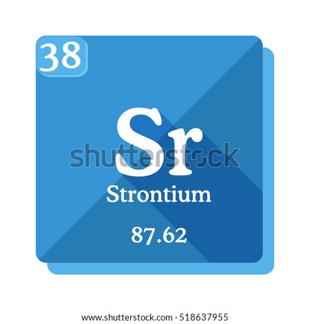 Strontium Sr Element Periodic Table Flat Stock Vector Royalty Free