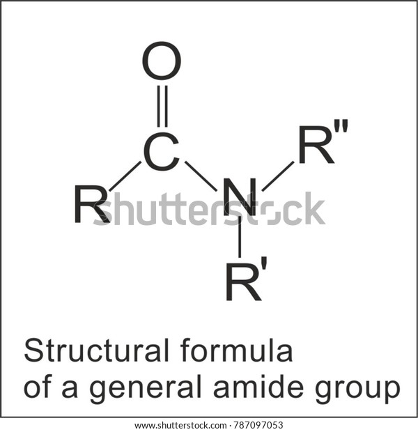 Structural Formula Amide Group Stock Vector (Royalty Free