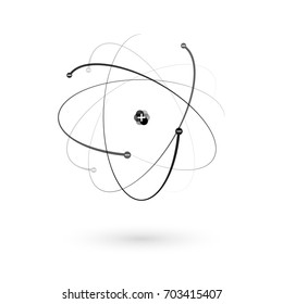 structure of the atom. flat atom icon. vector illustration
