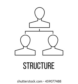 Structure icon or logo line art style. Vector Illustration.