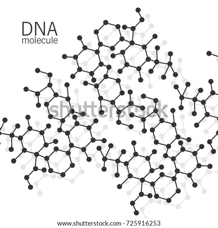 Structure Molecules Abstract Background Dna Stock Vector Royalty