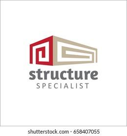 Structure specialist logo template - vector illustrator