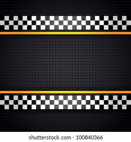 Structured metallic perforated for race sheet template, vector 10eps