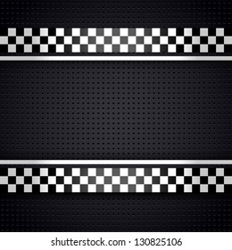 Structured metallic perforated for race sheet gray template, vector illustration 10eps