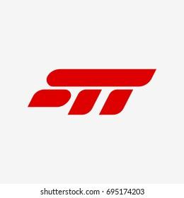 STT Letter, Company Vector Logo. Monogram Tech Sign
