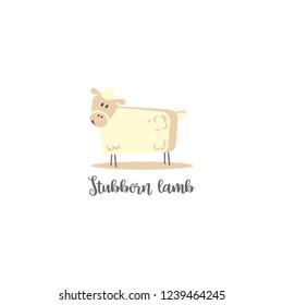Stubborn lamb logo