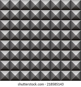 Studded, pointed background, seamless pattern