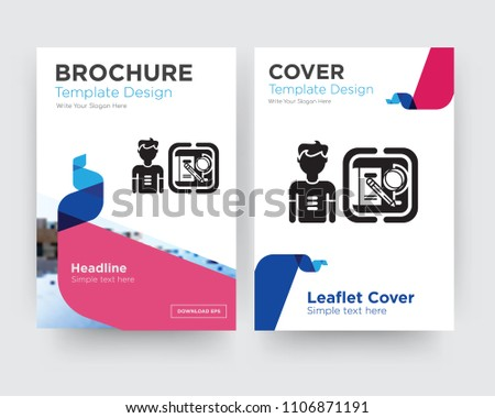 Student Brochure Flyer Design Template Abstract Stock Vector