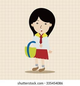 student cartoon theme elements vector,eps