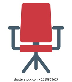 Student Chair Color Isolated Vector Icon that can be easily modified or edit