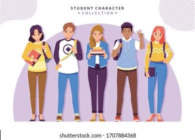 student character collection stock vector