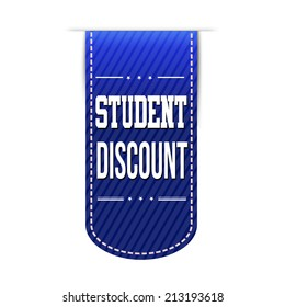 Student discount banner design over a white background, vector illustration