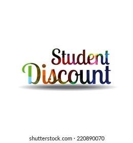 Student Discount Colorful Vector Icon Design