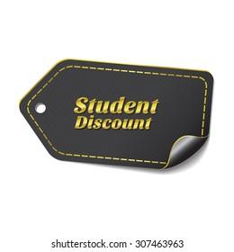 Student Discount golden Vector Icon Design