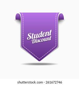 Student Discount Purple Vector Icon Design