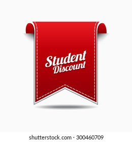 Student Discount Red Vector Icon Design