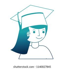 student girl graduted avatar character
