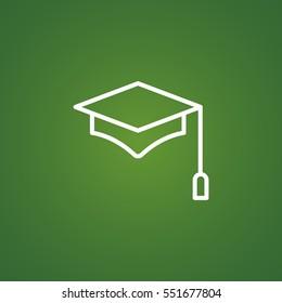 student icon flat.