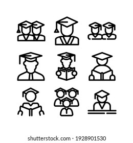 student icon or logo isolated sign symbol vector illustration - Collection of high quality black style vector icons