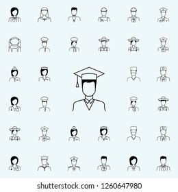 student icon. Proffecions icons universal set for web and mobile