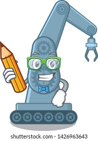 Student mechatronic robotic arm in mascot shape