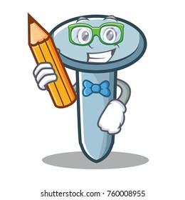 Student nail character cartoon style