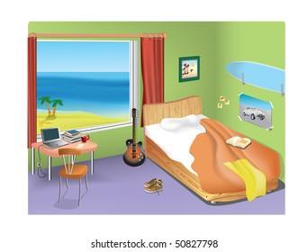 Student room.
