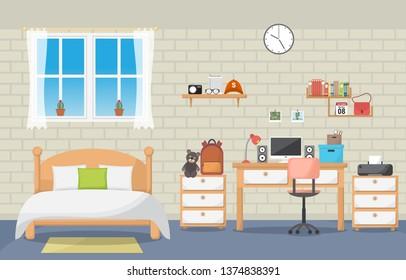 Schreibtisch für Studierende Schlafzimmer Räume Möbel Wohnraum Design