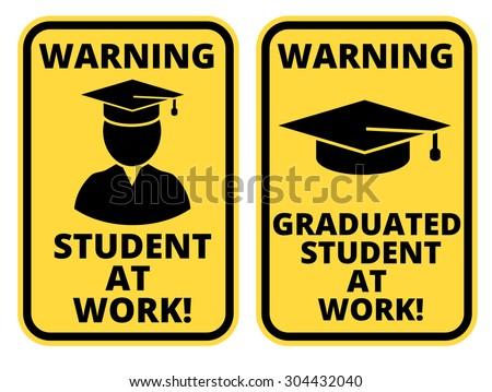 student work joke humorous sign vector stock vector royalty free