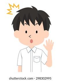 A student.(Japanese schoolboy) / Gakuran / Summer 9