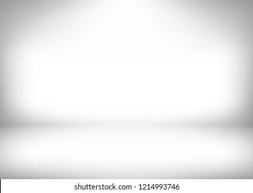 Studio backdrop white gray abstract background.graphic art design.vector illustration.