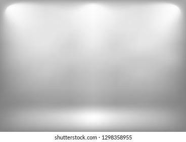 Studio backdrop white gray abstract background.graphic art design.vector illustration.