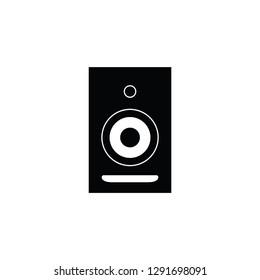 Studio monitor speaker flat vector pictogram