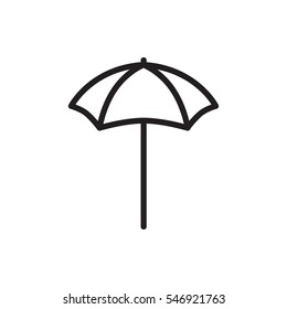 studio umbrella icon illustration isolated vector sign symbol