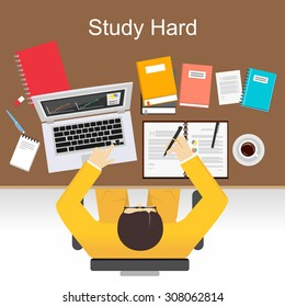 study hard pictures