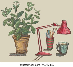 Royalty Free Hand Drawn Flowerpot Images Stock Photos Vectors