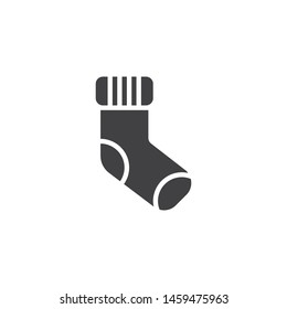 Stuffer sock vector icon. filled flat sign for mobile concept and web design. Sock  glyph icon. Symbol, logo illustration. Vector graphics