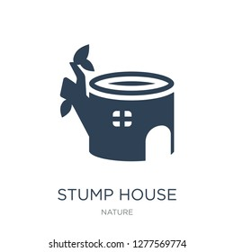 stump house icon vector on white background, stump house trendy filled icons from Nature collection, stump house vector illustration