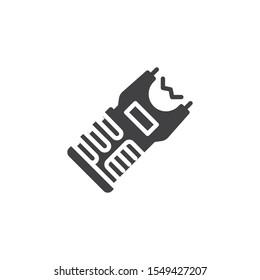 Stun gun vector icon. filled flat sign for mobile concept and web design. Police taser glyph icon. Symbol, logo illustration. Vector graphics